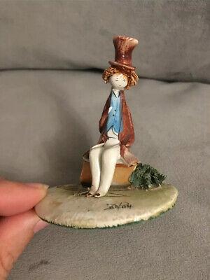 SUPERB Vintage ITALIAN Handmade PASTEL CERAMICA Figurine Lino Zampiva 1970 for sale  Shipping to Ireland