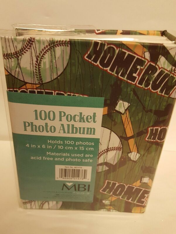 100 Book Bound Picture Photo Album (BASEBALL)