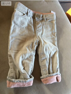 New With Tags GAP Toddler Girls Fleece Lined Jeans