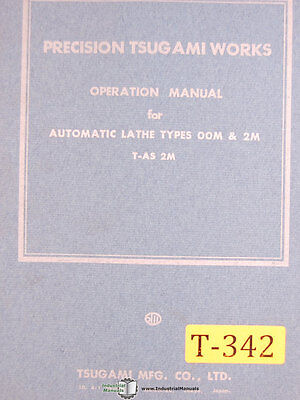 Tsugami T-as M2 00m And 2m Screw Machines Operations Manual