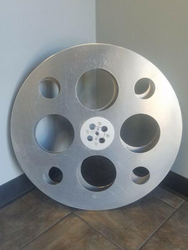 """Vintage Goldberg Bros E-Z HUB Floating Hub Film Reel, 35mm, 25"""" dia, SHIPS FREE!"""