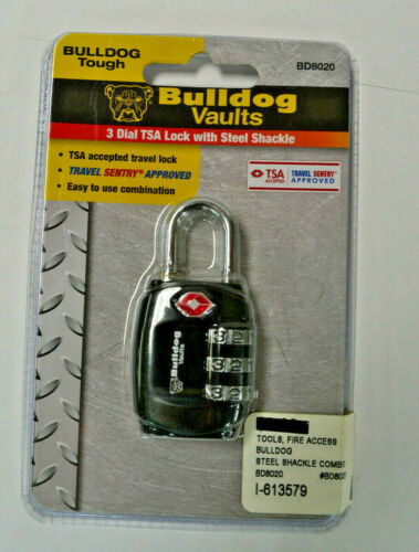 Bulldog Cases 3 Dial Tsa Lock With Steel Shackle BD8020
