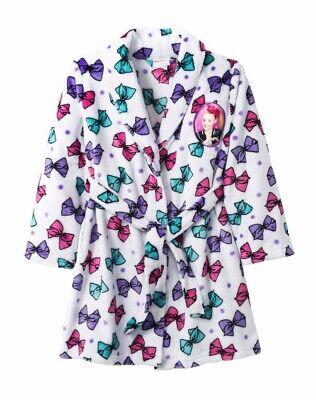 - NEW JoJo Siwa Bath Robe Girls Size Large 10/12 Soft Fleece Pajamas Bathrobe NWT