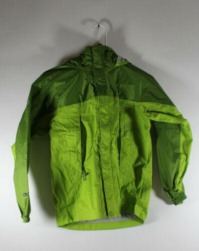 Marmot Childrens Large Hooded Zipped Rain Jacket Green Size Large EUC
