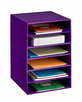 Adiroffice Purple 6 Shelf Home Office Document Storage Paper File Organizer