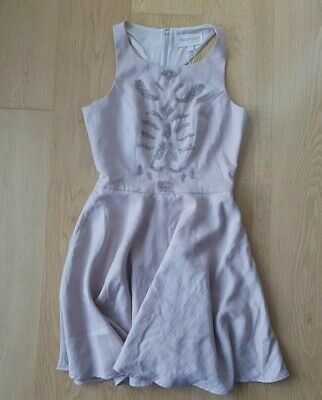 NWT $279 Keepsake The Label Women's Dress Burning Love Beaded Blush Pink Size S