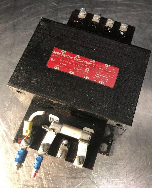 ACME ELECTRIC TA-1-81005 CONTROL TRANSFORMER 500 VA 50/60 HZ