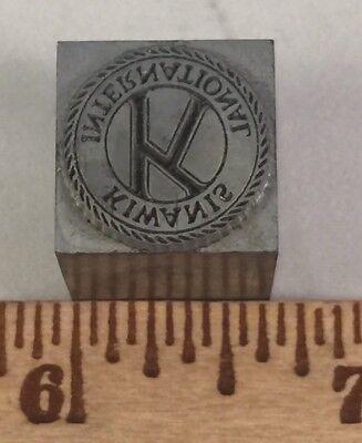 Kingsley Hot Stamping Machine Dies Emblem Foil Stamp International Kiwanis