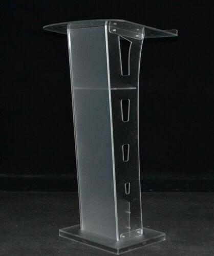 Clear Acrylic Church Podium Presentation Stands Lecterns Plexiglass Pulpit NEW