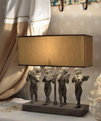 Vintage Tischlampe Engelfiguren Tischleuchte Shabby Chic Lampe Engel Leuchte