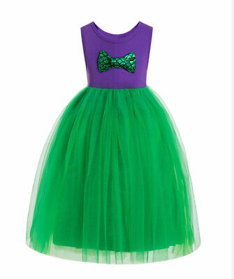 Summer Kid Girls Cartoon Inspired Princess Mermaid Funny Gown Dresses Costume](Funny Mermaid Costume)