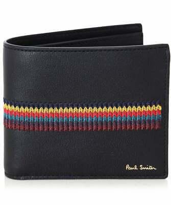 PAUL SMITH /'Psychedelic SUN/' Artist Stripe interior Billfold Wallet ULTRA RARE!