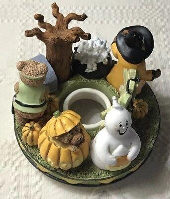 Boo Halloween Pumpkin (Boo Bears Halloween Candle Capper Pumpkin Ghost Witch Bear Fits Med & Large)