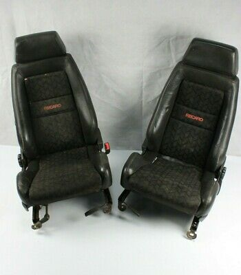 Pair Half Leather Recaro Seats Rover Kit Car VW Hot Rod