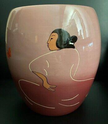 R.C. Gorman Navajo 1993 Signed 63 of 100 Mariposa Ceramic Vase Art