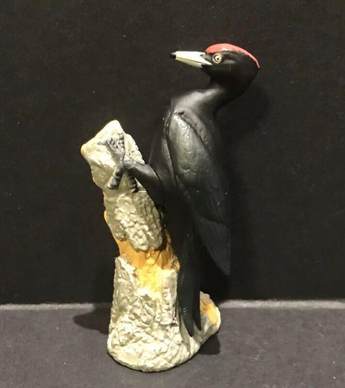 RARE Kaiyodo Natural Monuments of Japan Black Woodpecker Bird Figure