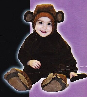 Monkey Baby Costume 6-12 Months Infant Halloween Totally Ghoul Plush Jumper
