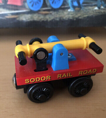 2001 Learning Curve Wooden Thomas Train Set Exclusive Sodor Red Handcar!EUC
