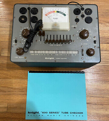 Working Allied Knight Model 600 Bench Top Tube Tester