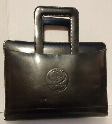 Leather Black Portfolio 3 Ring Zip Pro-folio Planner Organizer