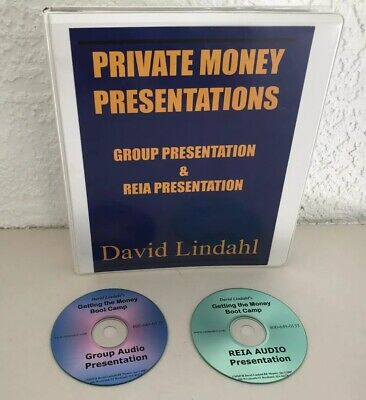 PRIVATE MONEY PRESENTATION COURSE BY DAVID LINDAHL - MANUAL, & 2 AUDIO CD'S!