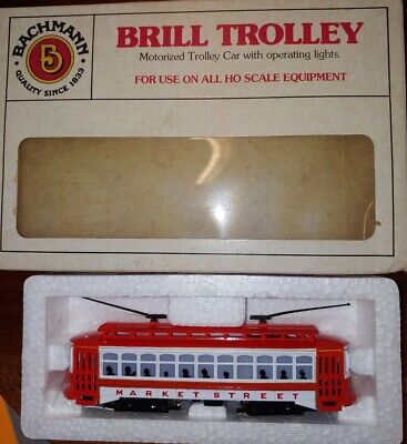 Bachmann, HO scale, Brill Market street Trolley with light function. See ad (10D Bachmann Brill Trolley