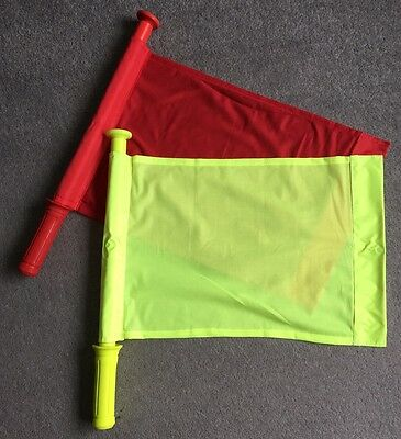 Brand New Touch Judge/Linesman Football Rugby Hockey Training Referee Flags