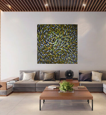 "aboriginal artwork art painting Dreaming Fish canvas print 32"" by Jane crawford"