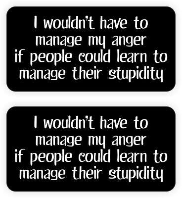 Hard Hat Stickers Manage My Anger Decals Funny Labels Foreman Laborer Welder