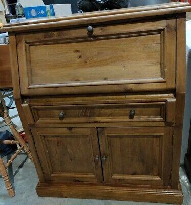 Vintage Writing Bureau Solid Timber 117cm Height 100cm Wide Desk Study Pakenham