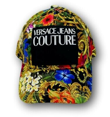 VERSACE JEANS COUTURE logo patch baroque cap new with tag uni size luxury italy
