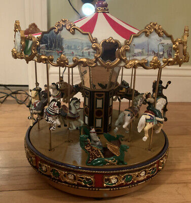 World's Fair Carousel Mr. Christmas Musical Plays 30 Songs Needs some tinkering