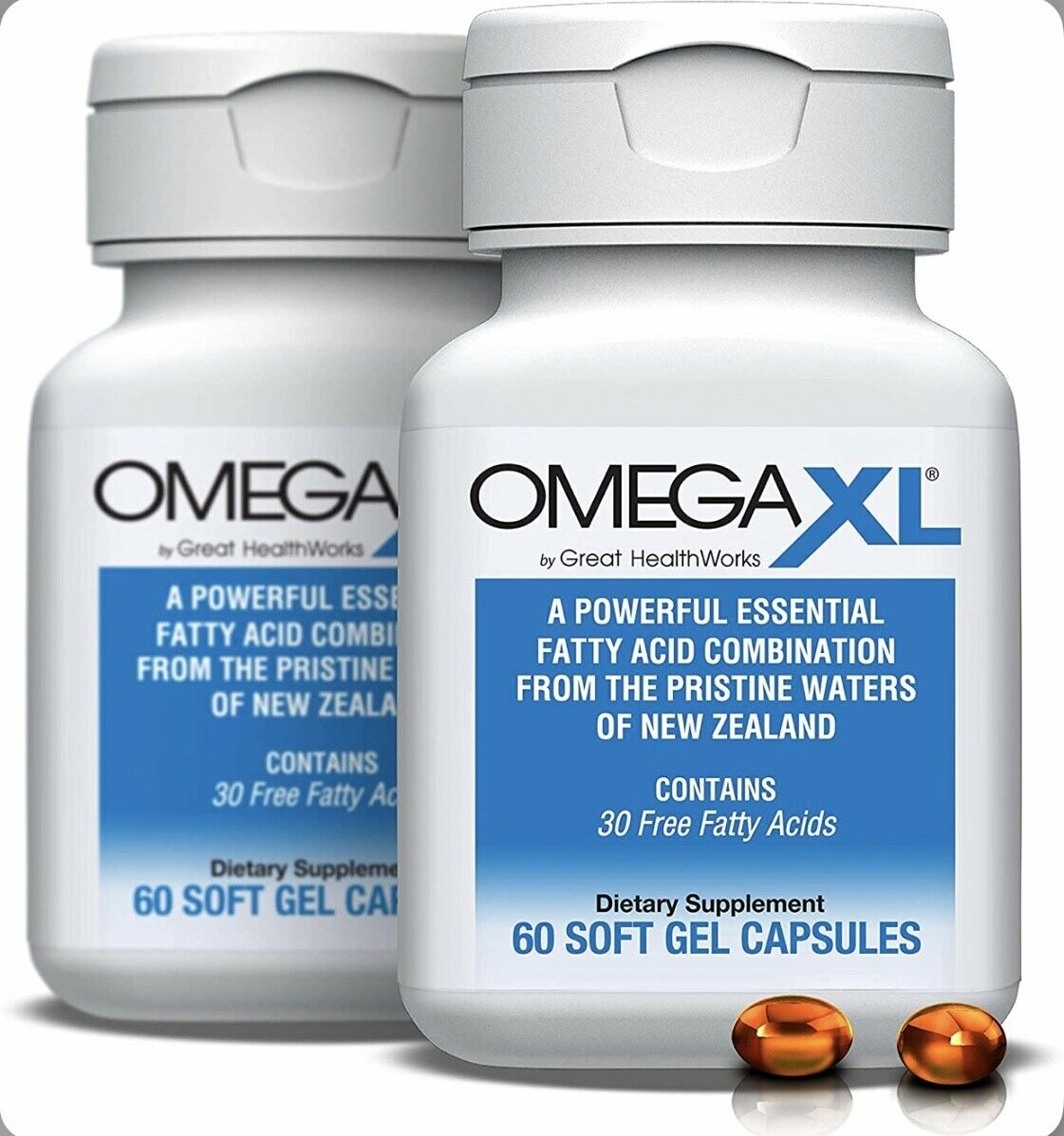 OmegaXL 60ct Great Healthworks, 2 Pack ( 60 Capsules + 60 Capsules )