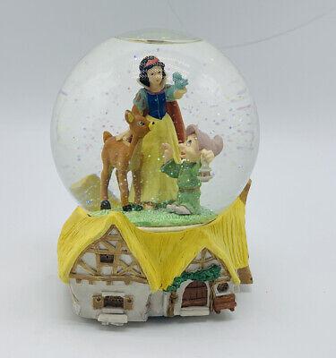 Disney Snow White Dopey Bambi Snow Water Globe Someday My Prince Will Come
