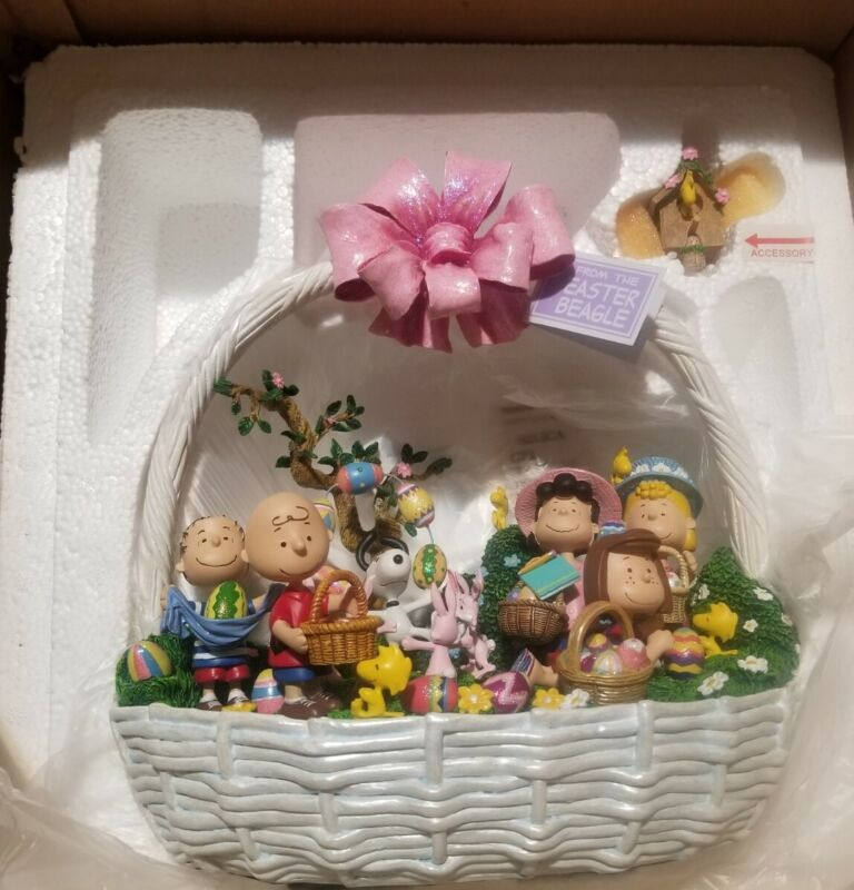 Retired Danbury Mint Peanuts Egg-Stravaganza Easter Basket From  Easter Beagle