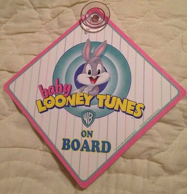 Baby On Board Tiny Tunes Sign Car Suction Cup