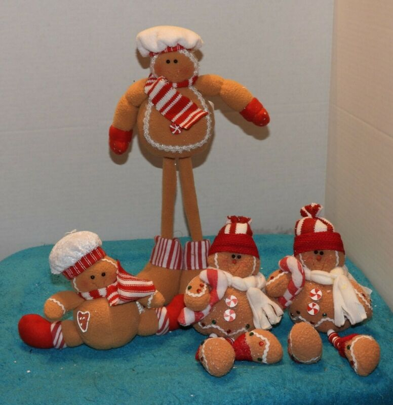 4 Gingerbread Figures
