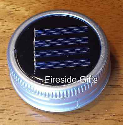 1 Pack Solar Mason Jar Lid Single LED Mason Jar Solar Light Color Changing (Single Mason Jars)
