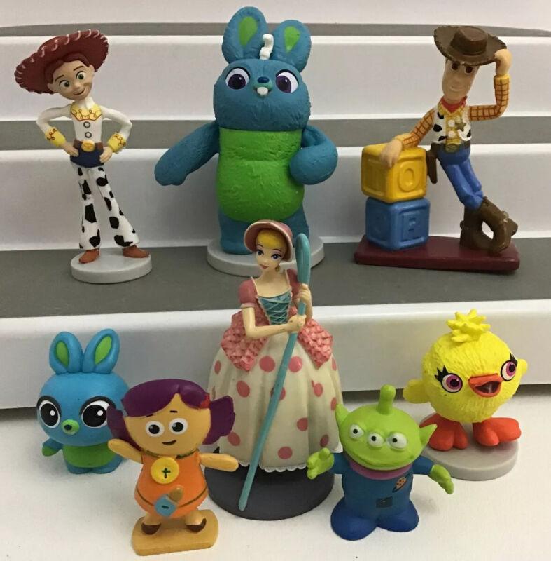 Disney Pixar Toy Story Mixed Lot 8 Figures Cake Toppers Bo peep