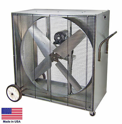 Box Fan Industrial - Belt Driven - 48- 115 Volt - 1.5 Hp - 1 Phase - 21500 Cfm