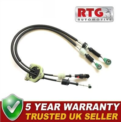 Gear Control Selector Linkage Cable Set For Fiat Doblo Vauxhall Combo 1.3 Diesel