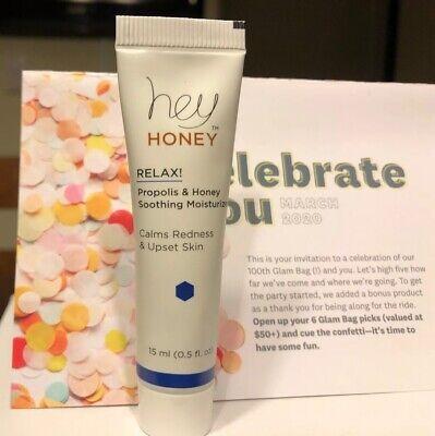 HEY HONEY Relax! Propolis & Honey Soothing Moisturizer 12ml/0.4oz Mini Sealed