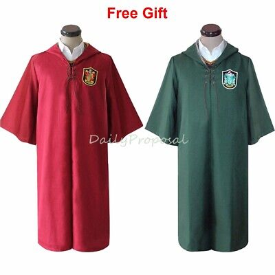 Harry Potter Quidditch Halloween Costumes (Unisex Quidditch Robe Harry Potter Seeker Red & Green Halloween Costume)