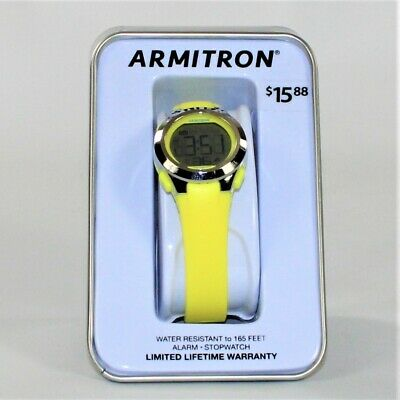 Armitron Unisex Digital Sport Watch, Neon Yellow (45/7042NYLTC)