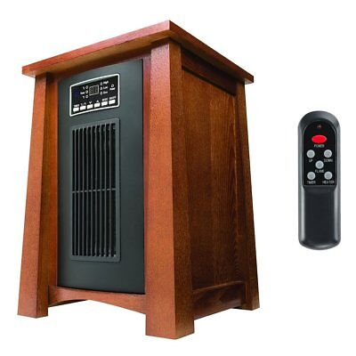Haier 1500 Watt 5100 BTU Infrared Space Heater w/Real Oak Finish & Remote