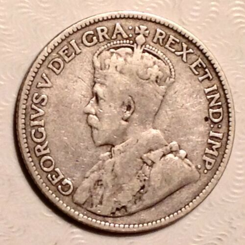 1913 Canada George V 25 Cents