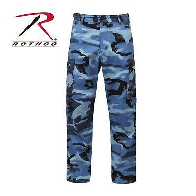 Rothco 7882 New Sky Blue Camo Military Cargo Polyester/Cotton Fatigue BDU Pants Bdu Sky Blue Camo