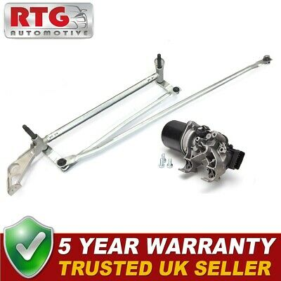 New Front Windscreen Wiper Motor + Linkage for Renault Clio 2007-2012 UK Models