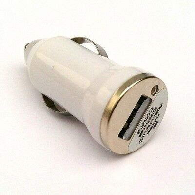 200X lot white Car Adapter Usb Wholesale New Car Charger for iphone 5 samsung