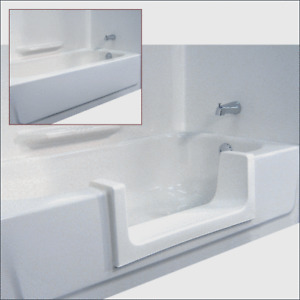 Adjustable Tub insert - convert walk in tub back to usable tub.